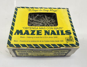 Maze Nails Stainless Steel Painted Trim Nails Almond 1 Lb Box 1 1 4 Long