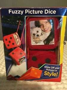 Large Fuzzy Fluffy Dice Red Auto Car Rearview Mirror Novetly Hanging Accessory