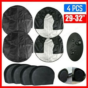 4x Waterproof Wheel Tire Covers For Rv Truck Car Auto Camper Trailer 29 To 32