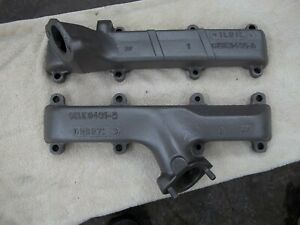 1964 Ford 390 Exhaust Manifolds Ciae 9431 B And Cise 9430 A