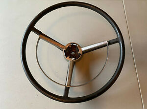 1968 1969 Dodge 3 spoke Steering Wheel With Horn Ring Charger Coronet Plymouth