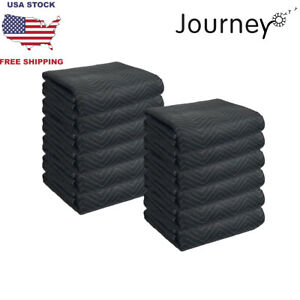 Packs Of Pro Deluxe Quilted 80 X 72 Storage furniture packing moving Blankets