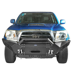 Front Bumper W winch Plate Led Spotlight Destroyer For Toyota Tacoma 2005 2015