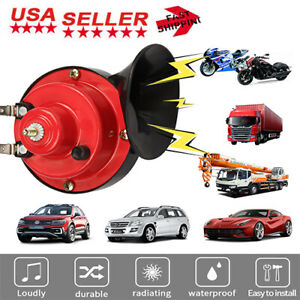 150db Super Train Horn For Trucks Suv Car Boat Motorcycles 12v Electric Horn Us