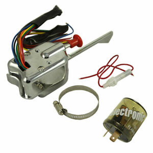 Chrome 12v Universal Rat Hot Rod Turn Signal Switch For Ford Gm With Flasher Us