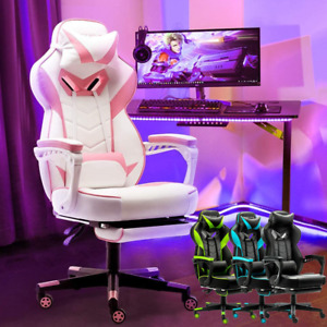 Racing Computer Gaming Chair Ergonomic Office Chair Recliner High back Swivel Us