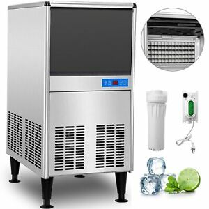 Undercounter Ice Machine Under Counter Ice Maker 95 Lbs 24 H Stainless Steel