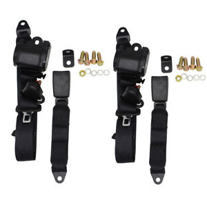 2 Universal 3 Point Retractable Seat Belts For Jeep Cj Yj Wrangler 1982 1995 Us