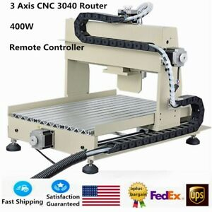 3 Axis Cnc 3040 Router Engraver Engraving Wood Drill milling Machine 400w W Rc