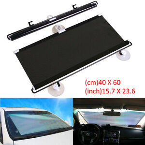 Auto Retractable Car Windshield Sun Shade Curtain Uv Protection Sun Visor Block
