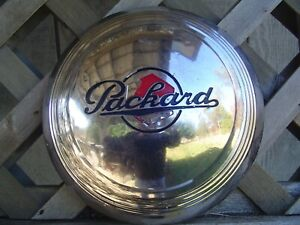One Vintage Packard Phaeton Club Sedan Super Eight Roadster Hubcap Wheel Cover