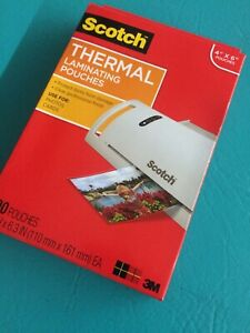 Scotch Thermal Laminating Pouches 200 pack 8 9 X 11 4 Inches Letter Size