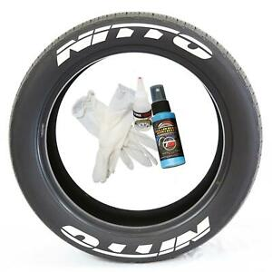 Tire Lettering Pre Curved Permanent Raised Letters Nitto Logo White Rubber 1 25