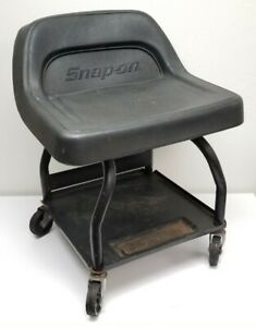Snap On Creeper Roller Rolling Seat Bench Chair Black Vinyl Steel Jch30 Vintage