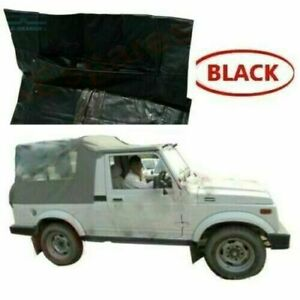 Black Long Body Soft Top Roof For Suzuki Sj410 Sj413 Samurai Maruti Gypsy a145