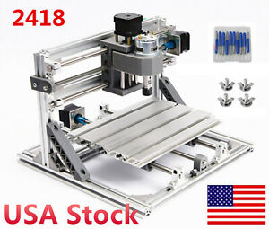 usa Usb 3 Axis 2418 Cnc Wood Router Cutter Engraver Laser Machine Grbl Control