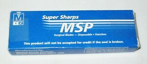 Box Of 12 Msp 316 Stainless Podiatry Chisel Surgical Blades Free Shipping
