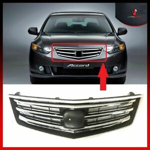 Honda Accord Front Center Grille For 2008 2011 No Badge Chrome Trim New