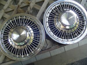 Two 1969 1970 Chevy Chevrolet Impala Caprice Hubcaps Wheel Covers Police Vintage