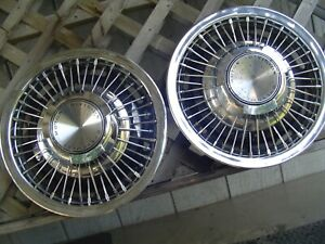 Two 1969 1970 Chevy Chevrolet Camaro Nova Chevelle Hubcaps Wheel Covers Vintage