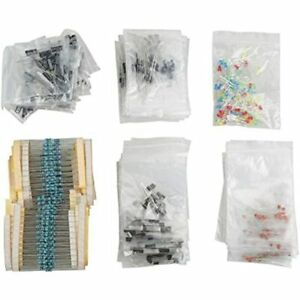 Electronic Components Kit Assortment Led Diodes Transistor Electrolytic 1390pcs