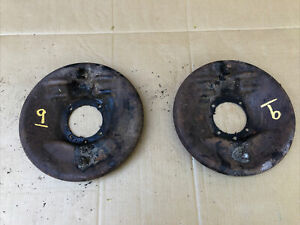 1929 1930 Model A Ford Front Backing Plates With Brake Shoes Brakes 29 30 9