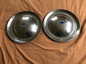 Pair Of Vintage 1953 Chevrolet Chevy Impala Bel Air Nomad Hubcaps