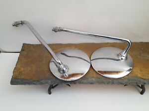 Vintage Pair Car Or Truck Side Mirrors Hot Rod Rat Rod Made In Japan