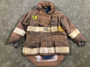 Tan Morning Pride Turnout Firefighting Gear Coat 40 Chest 29 35 Sleeve 29 2006