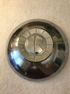 1951 51 Kaiser Kaizer Hubcap Rim Wheel Cover Center Hub Cap Oem Used Dog Dish