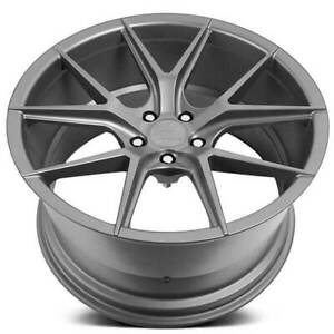 4 19 Staggered Verde Wheels V99 Axis Matte Graphite Rims B44