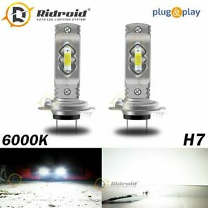 White H7 Led Headlight Bulb Kit High Low Beam Fog Light 80w 6000k Bulbs Us