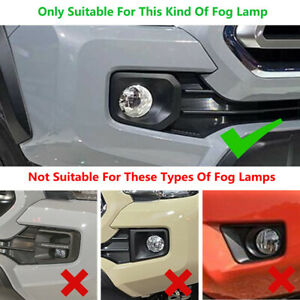 Front Bumper Fog Cover Molding Trims For 2016 2019 Toyota Tacoma Accessories