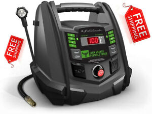 New Schumacher Jump Starter Power Station Fr01337 1200 Amp 100psi Air Compressor