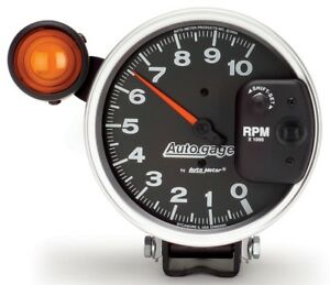 Auto Meter 233904 Gauge Tachometer 5 10 000 Rpm Shift Lite Black Auto Gauges