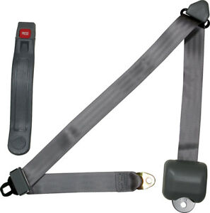Allstar Seat Belt Retractable 3 Three Point Gray Street Rod Hot Rod Seat Belts
