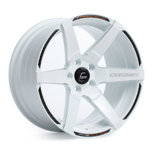 Cosmis Racing S1 White W Milled Spokes 18x9 5 15mm 5x114 3 Wheel Universal