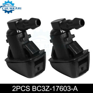 Pair New For Ford Super Duty Windshield Washer Jet Nozzle Sprayer Set F250 F35