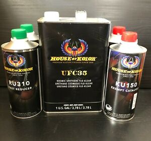House Of Kolor Ufc35 Urethane Flo Klear Clearcoat Gallon Kit 2 Sprayable Gallons