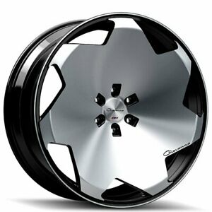 22 Staggered Giovanna Wheels Masiss Black Machined 4rims Set