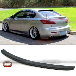For 10 13 Mazda 3 4dr Sedan Jdm Oe Style Flush Mount Rear Trunk Wing Spoiler