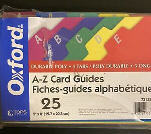 A z File Card Guides Poly Esselte 73155 File Tab