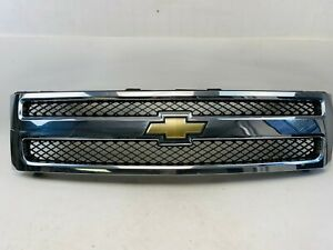 2007 2008 2009 2010 2011 Chevy Silverado 1500 Grille Grill 25810706 Oem Chrome D