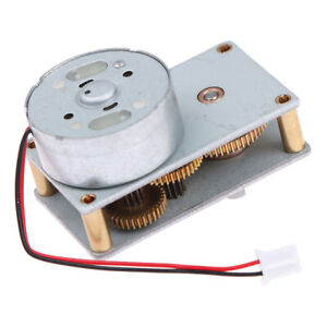 Flat Gearbox High Torque Gear Motor 6v Low Speed Noise Micro Motor Reductor