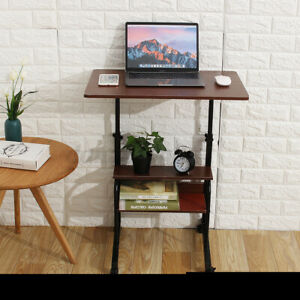 Adjustable Height Pc Computer Rolling Desk Laptop Table Cart Mobile Bed Stand U