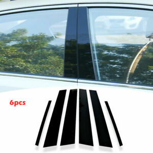 Window Trim Parts Accessories Car Pc Center Pillar Cover Moulding 6pcs