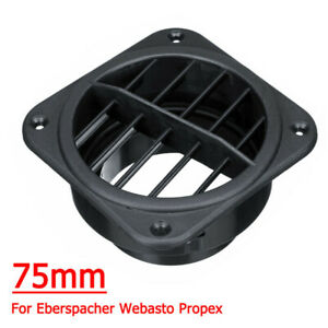 Black Warm Air Outlet Diesel Heater Duct Outlet For Webasto Eberspacher Parts