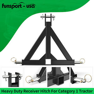 3 Point Trailer Hitch Tow Drawbar 2 Adapter Attachment For Category 1 Tractor