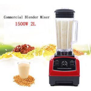 Professional Commercial Crusing Ice Blender Frozen Desser Shakes Mixer2000ml New