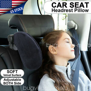 Adjustable Car Seat Headrest Pillow Head Neck Support Pillow Sleep Side Cushion